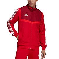 adidas trainingsanzug herren rot weiß mit sponsoren